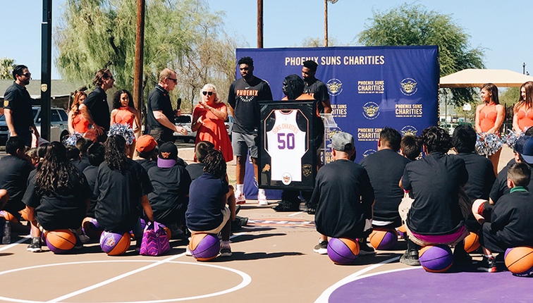 Suns Court Dedication