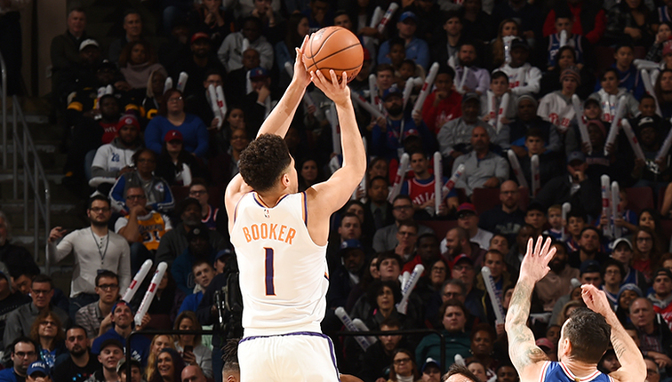 8018a475f5fc Devin Booker Drops 37 Points in Suns Loss to 76ers