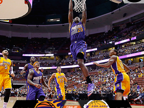 October 21, 2014: Suns at Lakers