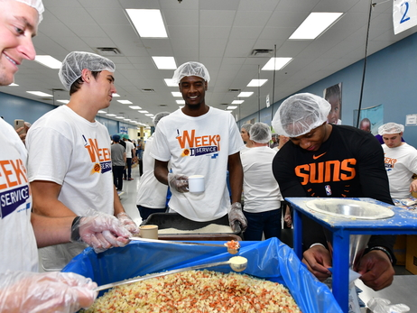 Phoenix Suns Week Of Service: Feed My Starving Children