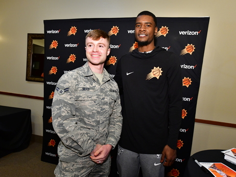 Josh Jackson Visits Military Families at Luke Air Force Base Courtesy of Verizon Wireless