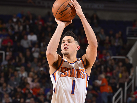 Booker and Warren Combine for 60 in Loss to 76ers