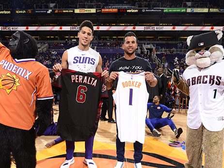 Diamondbacks Players Show Support for Suns at D-backs Night