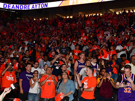 Phoenix Community Comes Together for Official Suns NBA Draft Viewing Party
