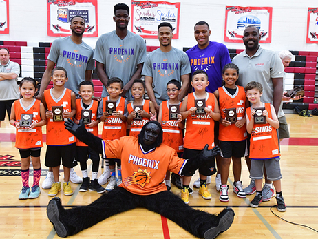 Ayton, Bridges, King, Okobo Visit Suns Summer Basketball Camps