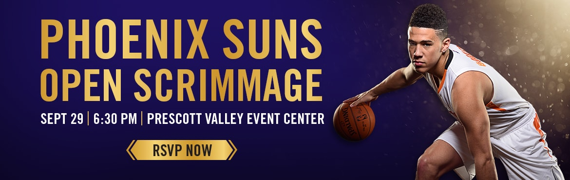 Phoenix Suns Open Scrimmage September 29 Prescott Valley Event Center