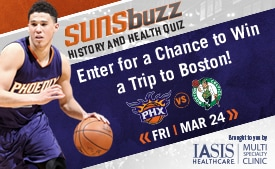 IASIS SunsBuzz Quiz - Enter for a chance to win a trip to Boston!