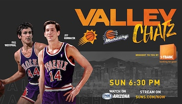 Suns Legends Paul Westphal & Jeff Hornacek Check In With Hoops Fans on Valley Chatz, Brought to you by Firstbank