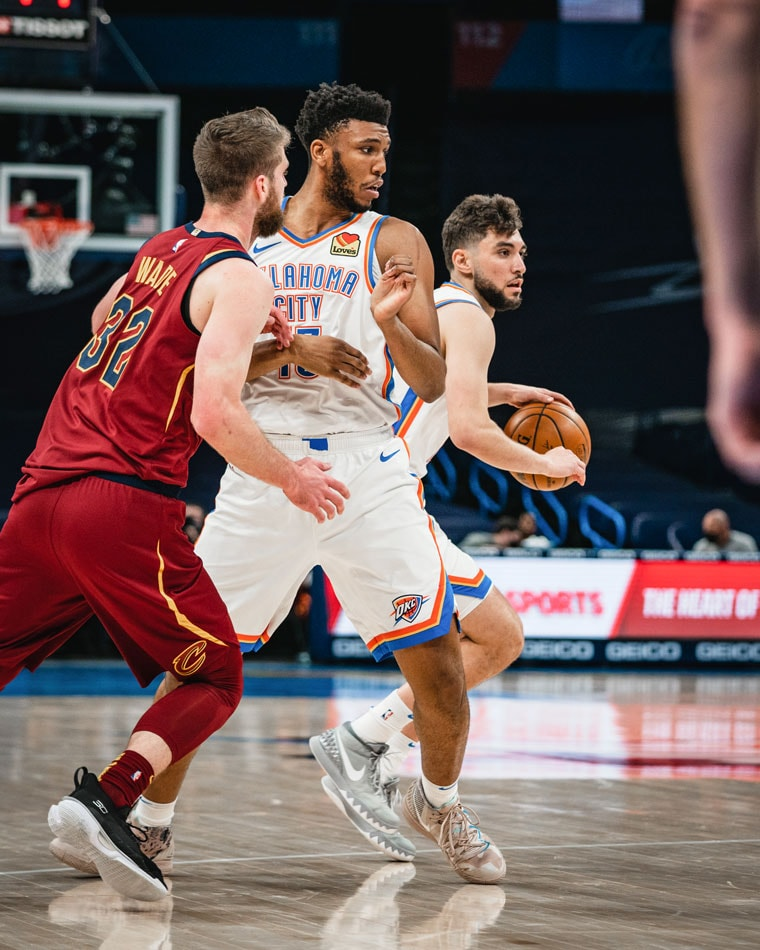 A second-half lull slowed OKC's attack in Thursday's 129-102 loss to the Cavs. Up next: Thunder hosts Sixers on Saturday.(Photo by Coby Van Loan   OKC Thunder)