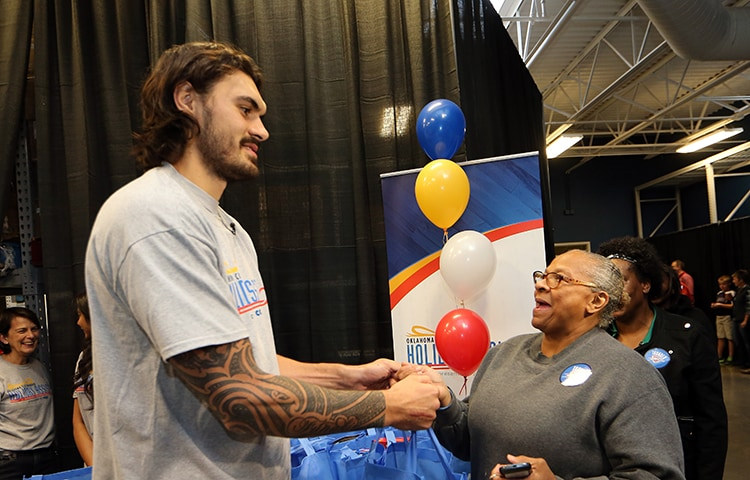 adams and kanter get a taste of thanksgiving