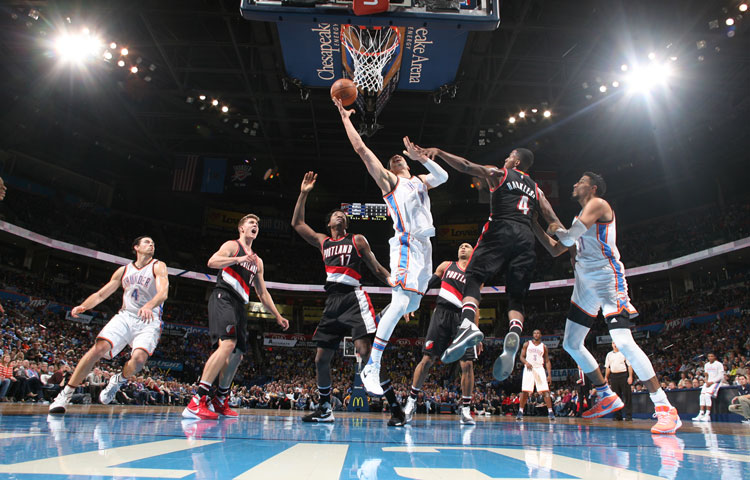 thunder vs trail blazers - photo #46