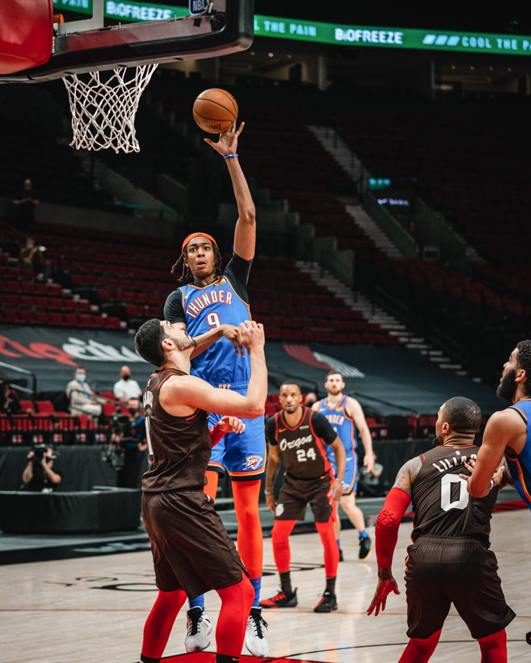 OKC battled after a slow start, but fell, 133-85, in Portland. The Thunder hosts the Pistons on Monday.(Photo by Coby Van Loan   OKC Thunder)