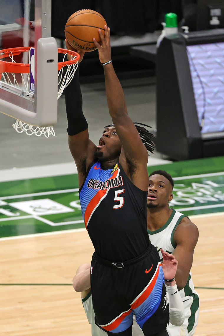 OKC cut a 22-point deficit into single-digits in the 4th, but fell, 98-85, to the Bucks. Thunder at Cavs on Sunday.(Photo by Stacy Revere   NBAE via Getty Images)