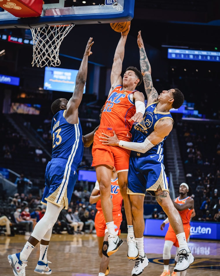 OKC got 52 points from the bench, but fell 136-97 to the Warriors. Up next: Thunder at Kings on Sunday 9 P.M. CT.(Photo by Coby Van Loan   OKC Thunder)