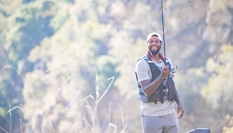 Reeling Them In: Paul George Shows off His Love of the Outdoors