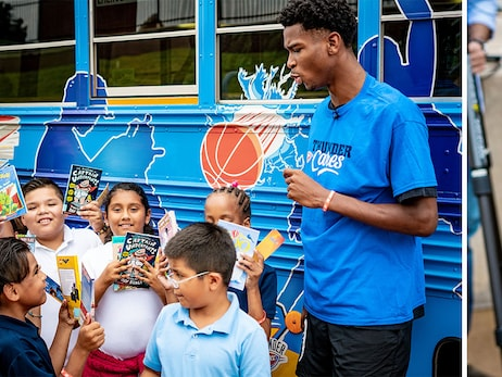 Shai Gilgeous-Alexander Shines Light on Book Bus