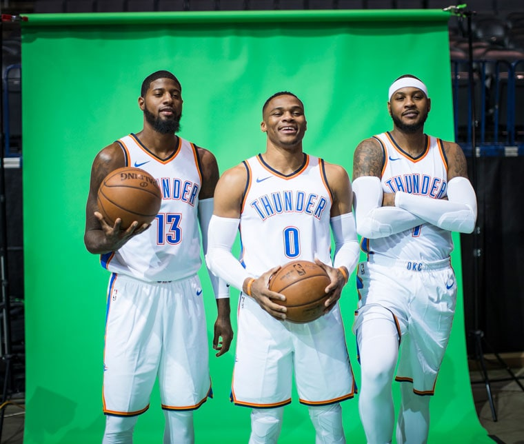 Oklahoma City Thunder. Look behind the scenes at Thunder Media Day, marking  the start of the teams 10th
