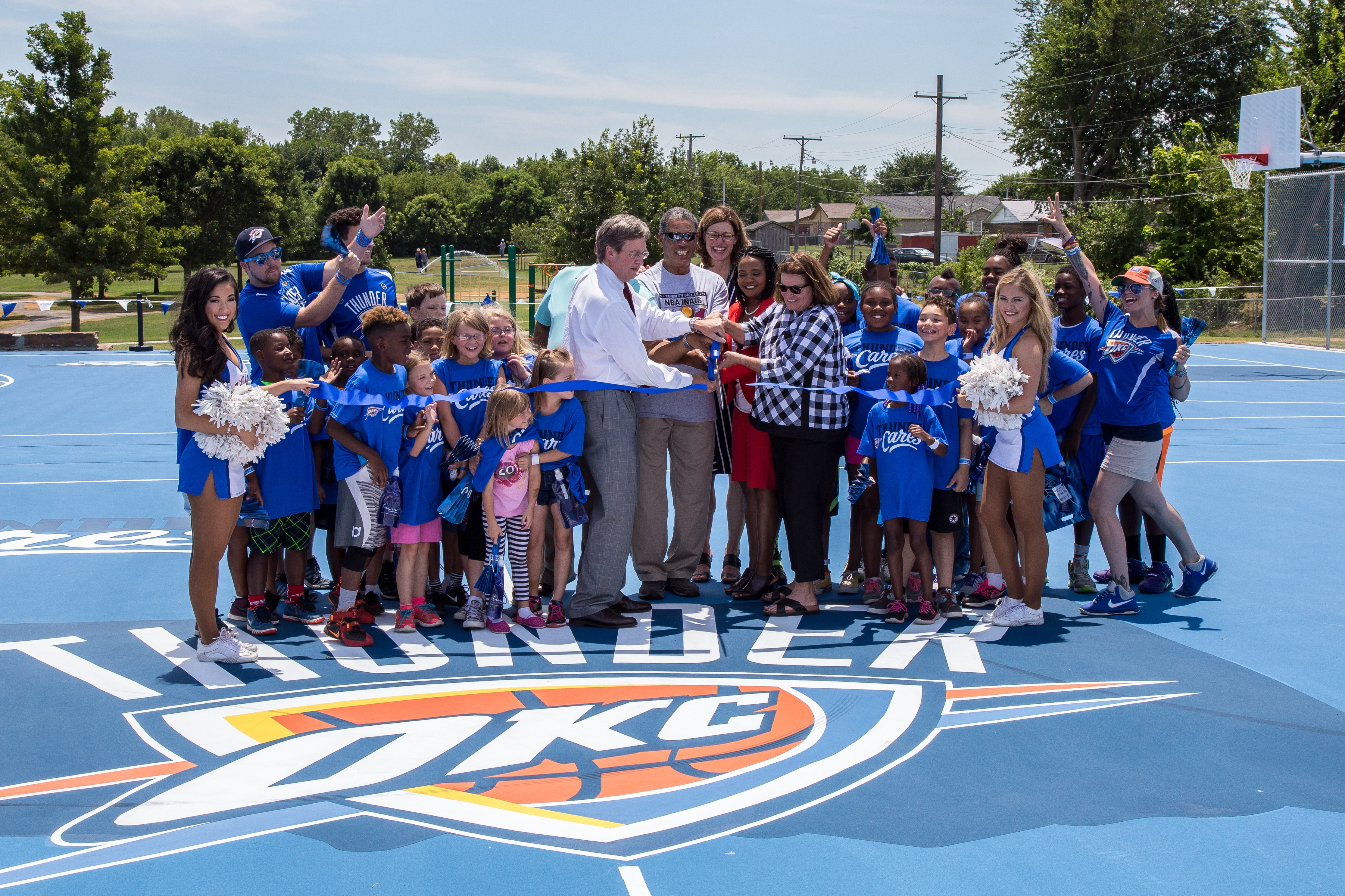 Thunder Dedicates New Courts in Tulsa | Oklahoma City Thunder