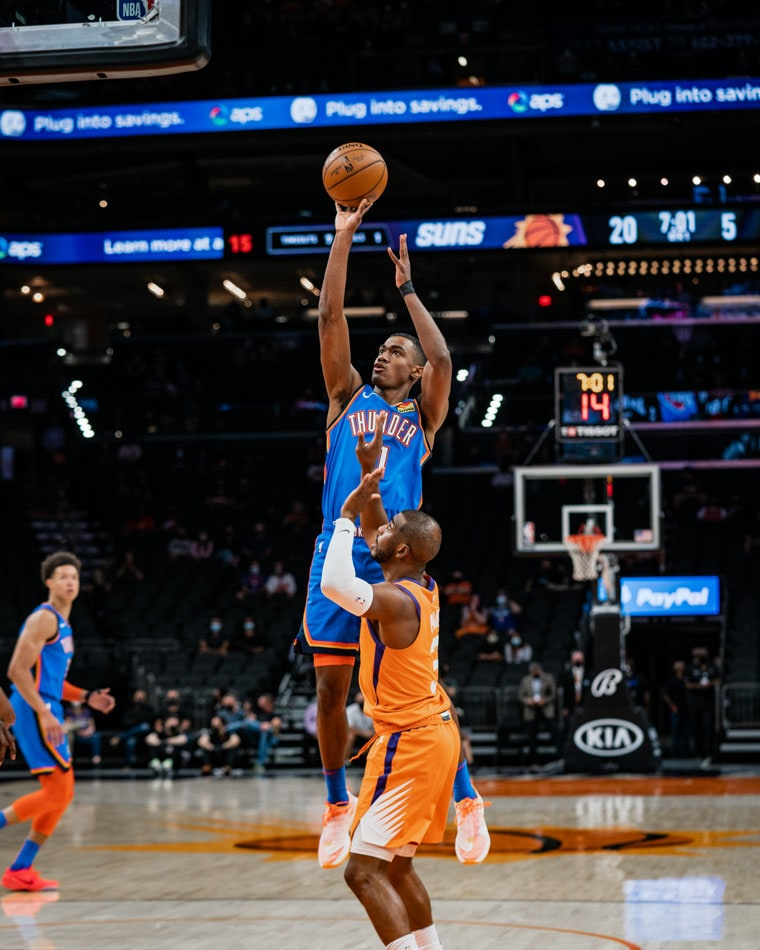 A slow start proved too much to overcome for OKC in Friday's 140-103 loss in Phoenix. (Photo by Coby Van Loan   OKC Thunder)