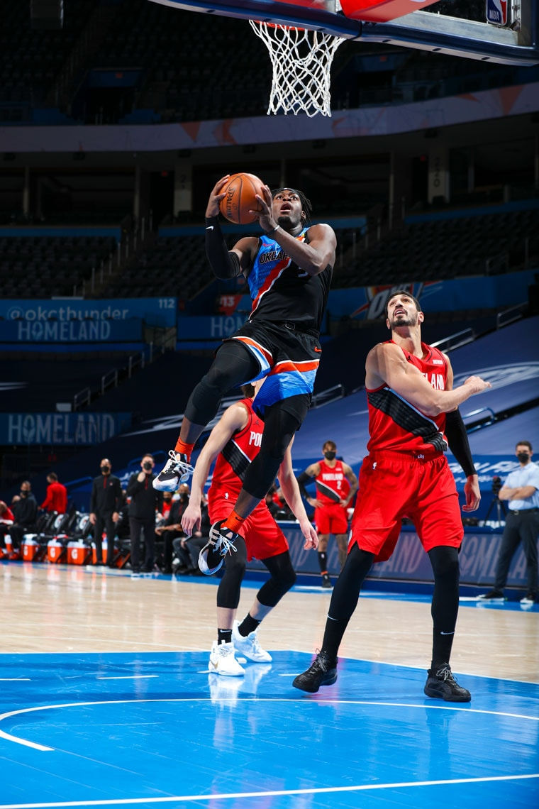 OKC overcame a 24-point deficit to take the lead in the 4th, but fell, 115-104, to Portland. Thunder at Memphis on Wednesday.(Photo by Zach Beeker | OKC Thunder)