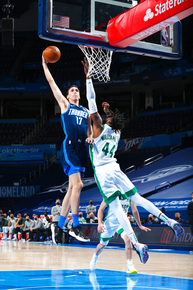 OKC led all the way until the final frame in Saturday's 111-94 loss to Boston.(Photo by Zach Beeker   OKC Thunder)