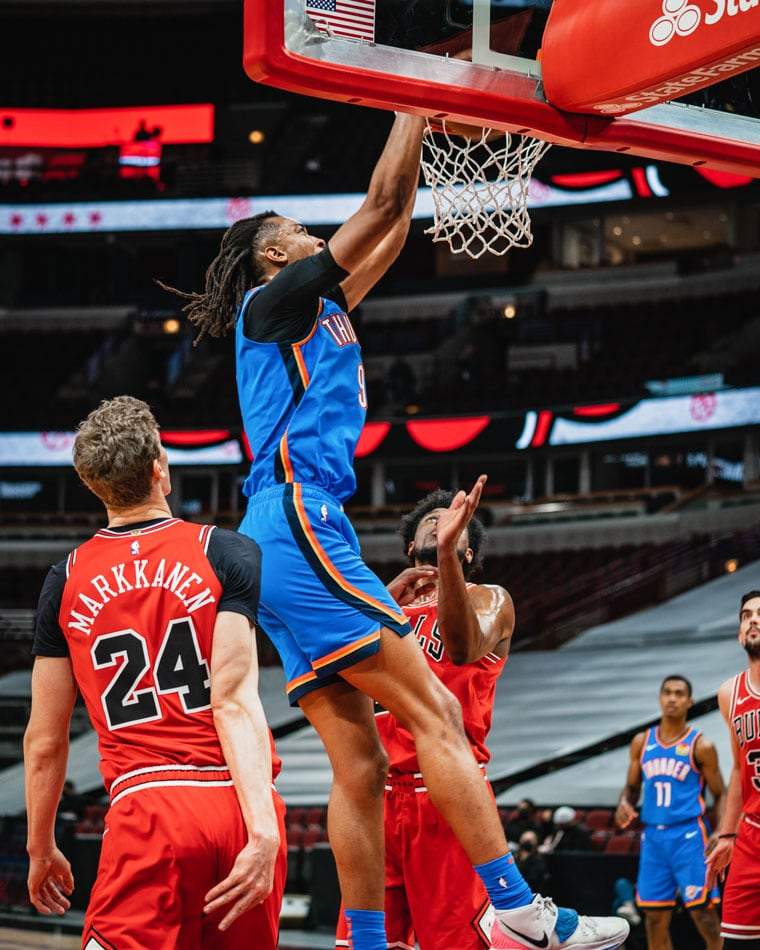 Trailing big early, OKC rallied in the 2nd, but ultimately fell, 123-102, in Chicago. Up next: Thursday at Hawks.(Photo by Coby Van Loan | OKC Thunder)