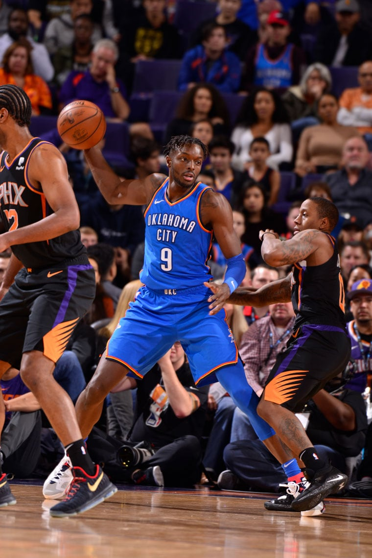 The Thunder defeated the Phoenix Suns, 110-100, Saturday night.(Photo