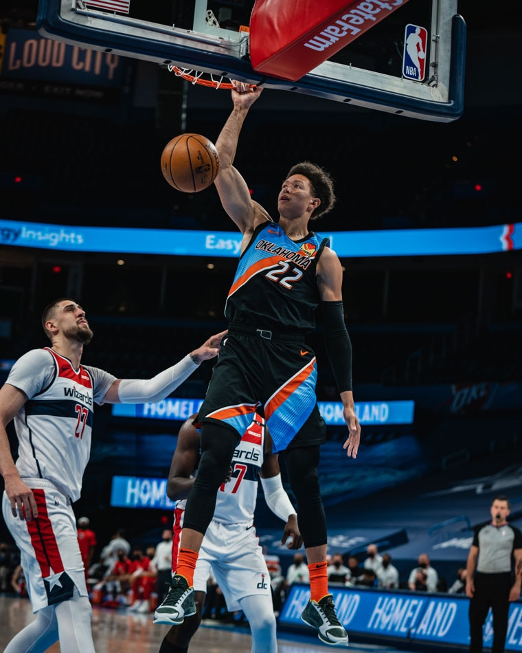A second-half lull slowed OKC's attack against the Wizards in Friday's 129-109 loss. Thunder at Sixers on Monday.(Photo by Coby Van Loan   OKC Thunder)