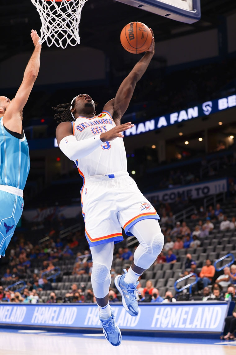 Action shots from Monday's preseason opener against the Hornets at Paycom Center.(Photo by Zach Beeker | OKC Thunder)