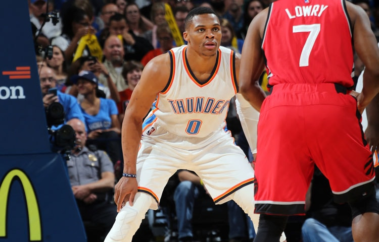 Russell Westbrook Posted A Double Double Performance With  Points And  Assists To Go