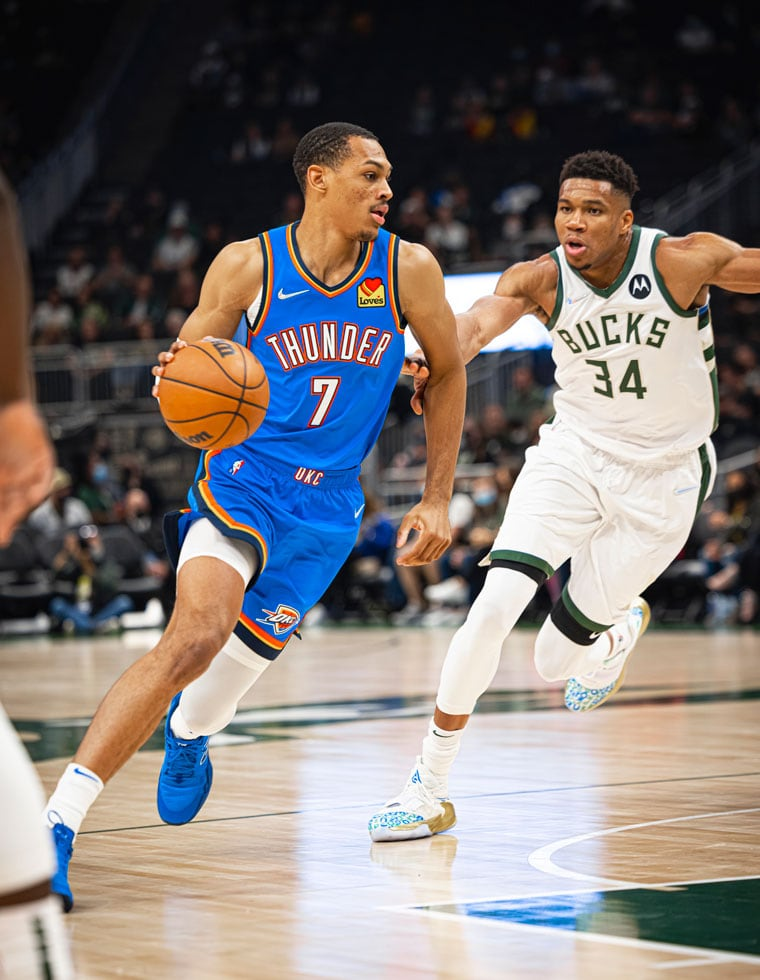 Action shots from Sunday's game in Milwaukee.(Photo by Zach Beeker   OKC Thunder)