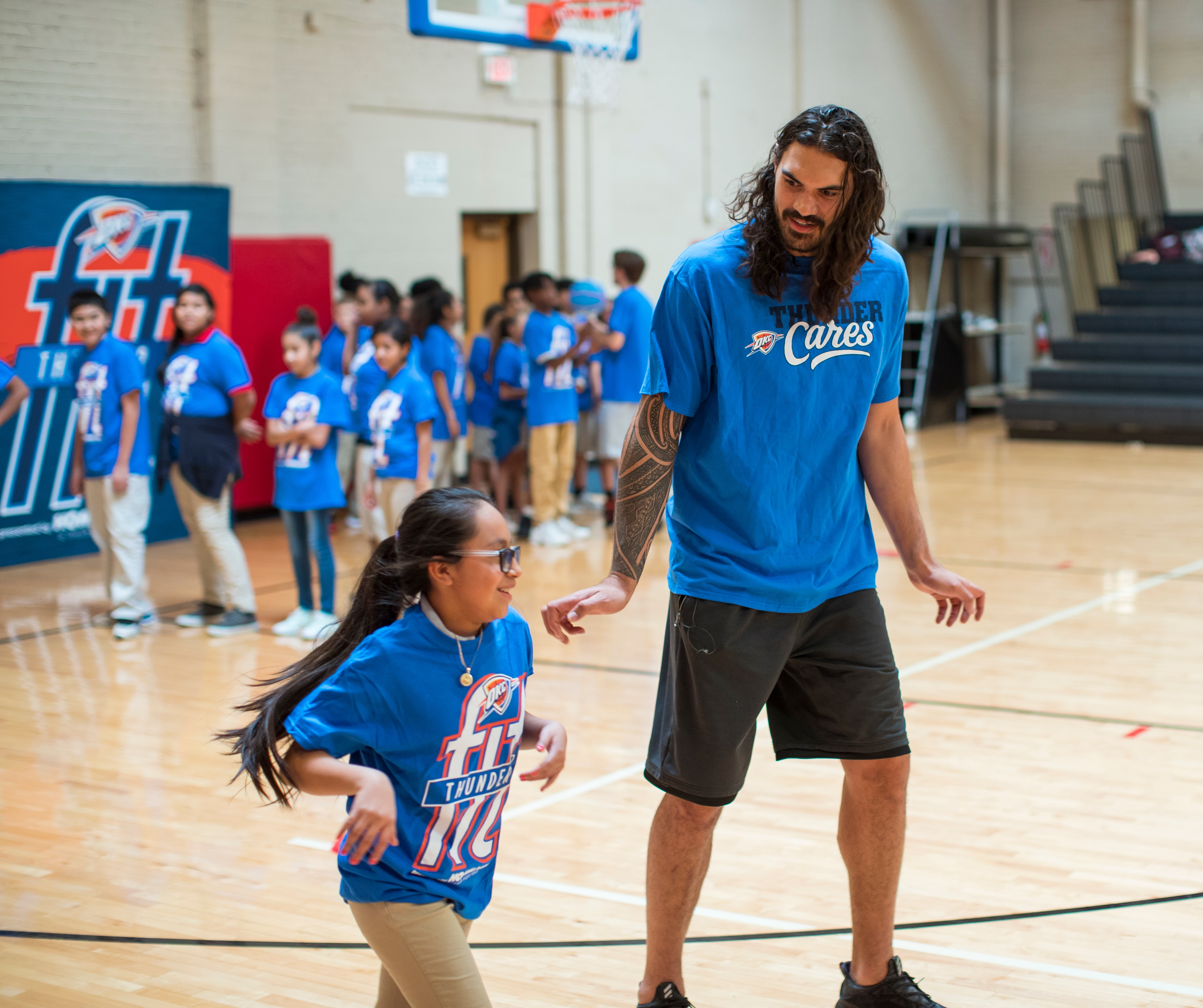 Steven Adams, Kyle Singler Connect With Youth for Fitness ...