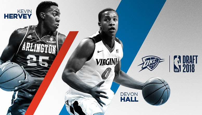 In 2018 NBA Drafts 2nd Round Thunder Picks Up Hall and Hervey