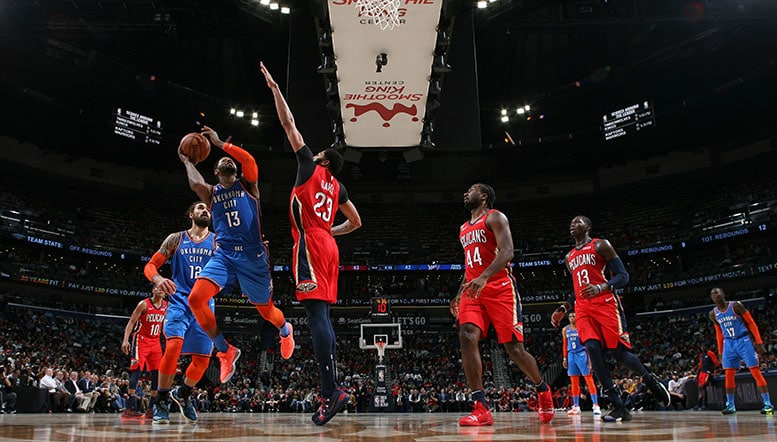 Loose Balls Free Throws  the Paint Battle Do in Thunder on Road OKC 114 NOP 118
