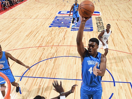 Dakari Johnson Shows Off Physicality and Touch as Summer League Tips Off