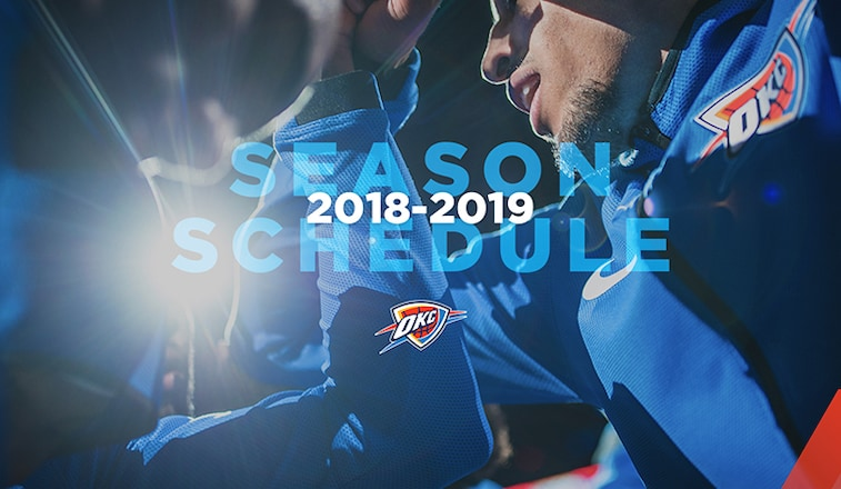 Thunder Announces 2018 19 Schedule Oklahoma City Thunder