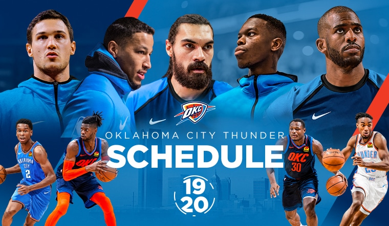 photograph about Okc Thunder Printable Schedule identify Thunder Announces 2019-20 Timetable Oklahoma Town Thunder