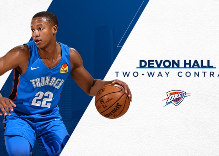 Thunder Signs Devon Hall to Two-Way Contract