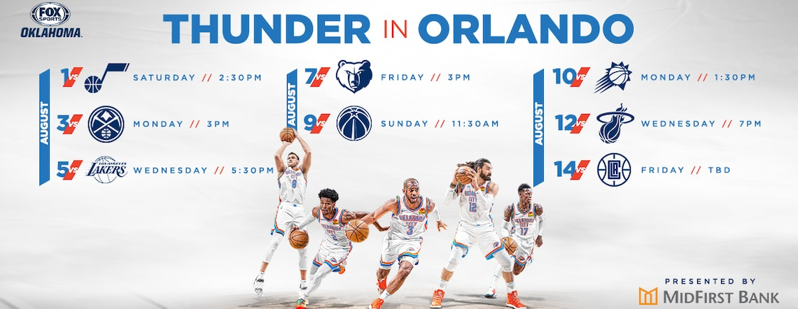 Thunder Announces 2020 Seeding Games Schedule
