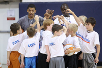 THUNDER: Photo Gallery--Ibaka and Mullens Visit Thunder Yout