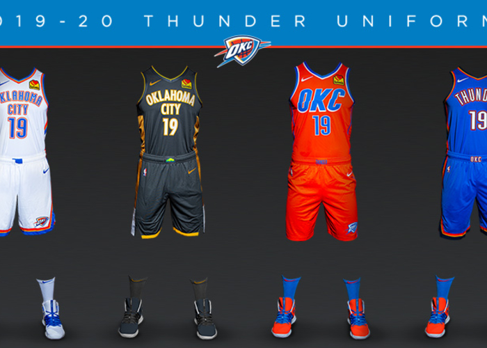 hot sale online 66918 b49d1 Thunder Unveils New Uniform in Partnership with Oklahoma ...