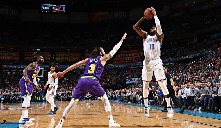 George's Third Quarter Flourish Fuels Thunder 'W'
