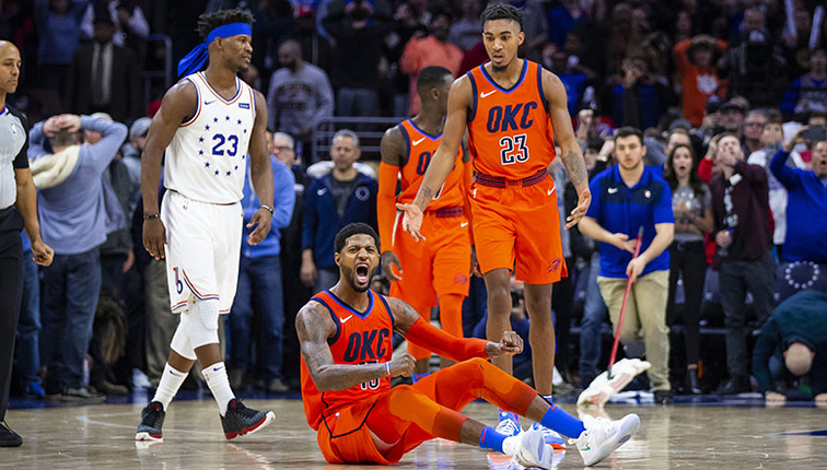 Georges Game Winner Saves The Day Okc  Oklahoma City Thunder