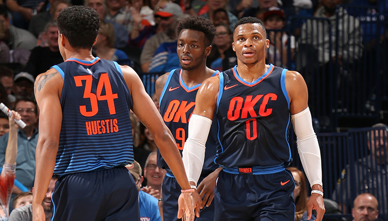 Russell Westbrook fires Oklahoma City Thunder to third win on the bounce