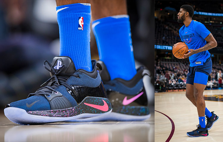 Paul George debuted new light-up PlayStation shoes vs. Cavaliers