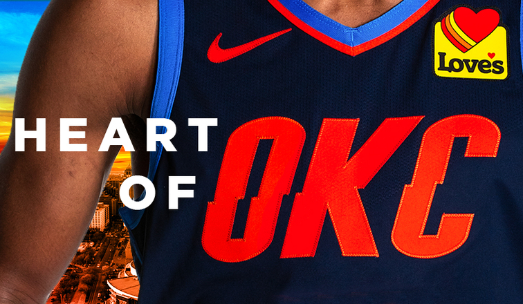 4856a3fab4e The Heart of OKC: Thunder, Love's Expand Partnership to Include Prominent  Placement on Thunder Jersey