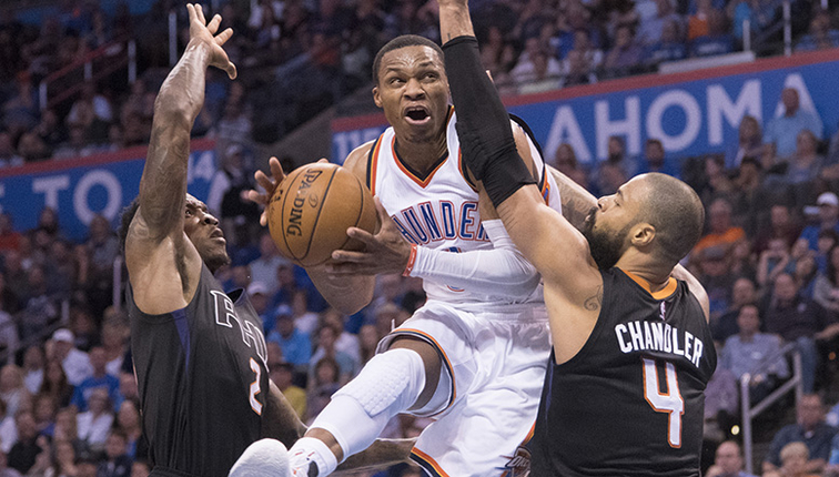 Russell Westbrook joins elite list with 2nd triple-double in 3 games
