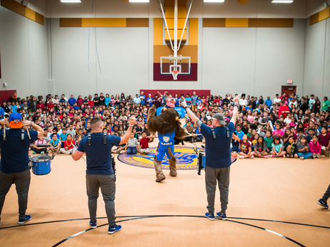 Gym Celebration at Cesar Chavez Elementary