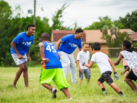 Thunder at Police Athletic League After School Program
