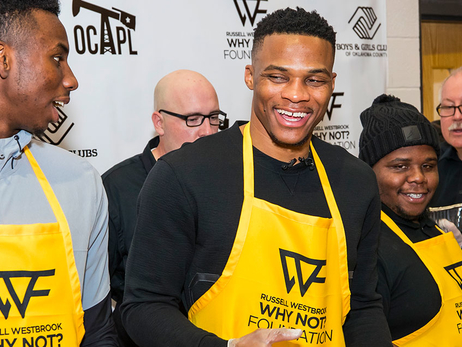 Russell Westbrook Dishes a Night to Remember at the Boys & Girls Club of Oklahoma County